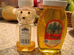 Honey -  in bear and non-bear form