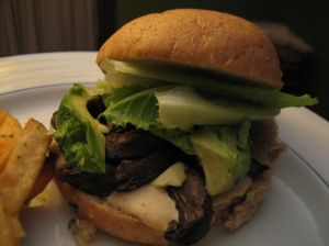 portobello sandwich - plated