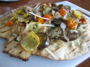 grilled veggie flatbread
